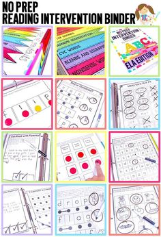 Reading intervention should be powerful and easy to prep! This BIG intervention binder for your beginning readers is ink-friendly and can be used over and over again with the use of sheet protectors and dry erase markers. Intervention tools will be at you