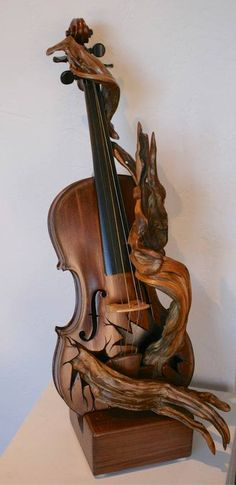 Philippe Guillerm I named this Cello Organics! Violin Art, Cello, Art Carved, Woodworking Skills, Wood Creations, Wooden Art, Wood Sculpture, Amazing Art, Wood Crafts