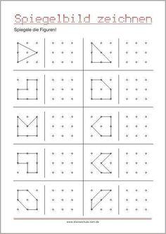 Spiegele die Figuren! - Geometrie 2. Klasse #Die #Figuren #Geometrie #Klasse #Spiegele