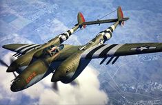 Robin Olds, Lockheed P 38 Lightning, Aviation Art, Air Force, Fighter Jets, Aircraft, Military, Culture, Vintage