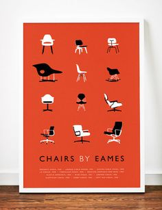 Charles Eames, graphic design, poster, red   Fine Art