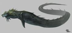 ArtStation - sea monster , Jonathan Kuo