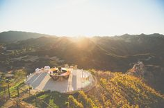 Malibu Rocky Oaks is a vineyard in Malibu available for weddings + private events. Their helipad makes for a stunning ceremony spot or cocktail hour!