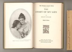 """Helen Keller, """"The Story of My Life"""" Autobiography of Deaf / Blind Woman whose Life was Inspiration to Millions Vintage Book School Edition Published by Houghton Mifflin in their Riverside Literature Series. Circa 1905 - 1909. For sale by ProfessorBooknoodle, $18.50"""