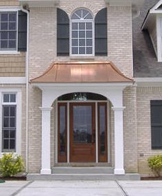 Architectural Copper Work Exterior Building Copper Tri State New York   NYCmetal roofed entrance   Google Search   Portico   Pinterest  . Exterior Door Roof Overhang. Home Design Ideas