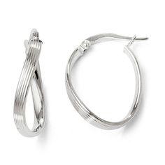 Italian 14k Gold Polished Hoop Earrings, Women's