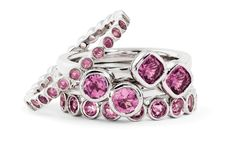 Stackable Expressions Sterling Silver Pink Tourmaline Ring Stack