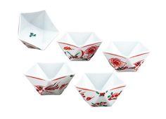 Japanese Kutani yaki ware kobachi bowls set