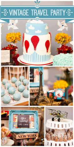 So many gorgeous part decorations at this Jules Verne inspired Vintage Travel boy birthday party!  See more party ideas at CatchMyParty.com!