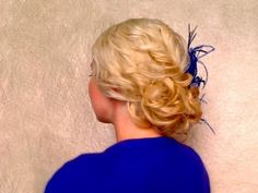 Easy curly hairstyles for medium long hair Wedding prom updo tutorial Holiday Christmas New Year