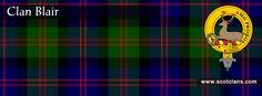 Clan Blair Tartan and Crest    http://www.scotclans.com/scottish_clans/clan_blair/