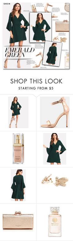 """Emerald City: Pops of Green"" by smajlovicelvira ❤ liked on Polyvore featuring Elizabeth Arden, Ted Baker, Tory Burch and emeraldgreen"