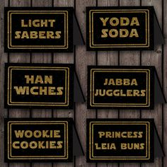 Star wars Food Labels, printable files, 8 labels, INSTANT DOWNLOAD, 4 pages