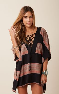 placket striped caftan // Blue Life #whatsnew #BlueLife