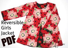 Whimsy Couture Sewing Pattern Tutorial E Book Reversible Jacket sizes 12 months- 12 girls PDF
