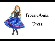 Doll Crafts: How to make a coronation dress for your Elsa or Barbie doll - YouTube