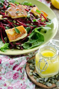 Grilled Haloumi and Beetroot Salad