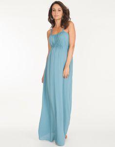 Azure Blue Grecian Maternity Maxi Dress  Seraphine