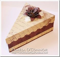 Pamela O'Connor - Cricut Artiste pie box with La Belle Vie Pie Box, Cricut Cake, Berry Baskets, Craft Box, Craft Ideas, Scrapbook Paper, Scrapbooking, Envelope Punch Board, Paper Cake