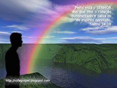 """Você não sabe a alegria que tenho em poder criar e apresentar-lhe mais este papel de parede gospel. O tema é um antídoto contra a depressão e o stress. """"Perto está o SENHOR dos que têm o coração quebrantado e salva os de espírito oprimido. Salmo 34:18"""". Para fazer download: Clique com o botão direito do mouse sobre a imagem e escolha """"Salvar imagem Como"""".  Leia mais: http://sofagospel.blogspot.com/2012/04/papel-de-parede-salmos-3418.html#ixzz2U3o4Rgxq Follow us: @elizeu_barbosa on Twitter"""
