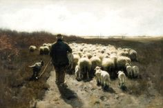 Anthonij 'Anton' Mauve (Zaandam 1838-1888 Arnhem) Herfst op de hei - Kunsthandel Simonis en Buunk, Ede (Nederland).