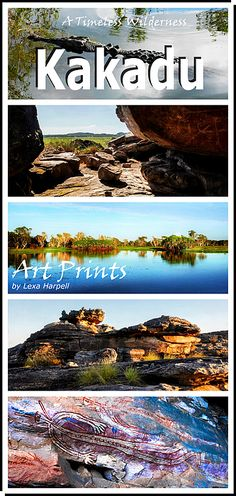 Kakadu National Park, Australia. A Timeless Wilderness! A UNESCO WHL site for natural and cultural benefits to humanity. Visit my gallery to see its wonders. Timless rock formations, wetlands, waterfalls, ancient rock art. Visit my gallery to see more wonders. Available in Art Prints, acrylic, framed, metal prints and home decore products.
