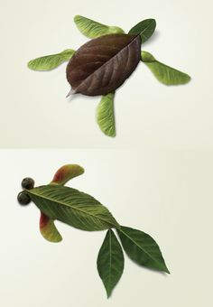 tinker with leaves - Animal Crafts Autumn Crafts, Autumn Art, Nature Crafts, Fall Leaves Crafts, Projects For Kids, Diy For Kids, Crafts For Kids, Craft Projects, Leaf Animals