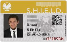 Shield Id Card Done As A Gift For A Friend Of Mine Who Is A Great