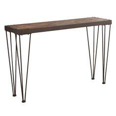 Edison Rustic Sofa Table, Brown