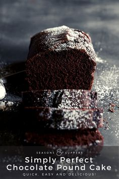 A beautifully light and moist chocolate pound cake loaf , with just the perfect amount of chocolate flavour. Enjoy a slice out of hand or slice, plate and top with fruit or ice cream (or both! Chocolate Loaf Cake, Chocolate Flavors, Chocolate Recipes, Chocolate Tarts, Nutella Cake, Chocolate Chips, Funnel Cakes, Brownies, Cupcakes