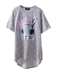 cute rabbit girl!! loose style match for all# https://www.nopants-elinor.com