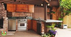Basic Kitchen Area Concepts For Inside or Outside Kitchen areas – Outdoor Kitchen Designs Outdoor Cooking Area, Build Outdoor Kitchen, Outdoor Kitchen Countertops, Outdoor Kitchen Design, Kitchen Island, Kitchen Decor, Outdoor Kitchens, Kitchen Ideas, Kitchen Cost