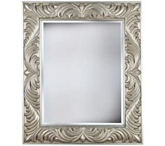 "Empress Gilded Silver 38"" High Wall Mirror 