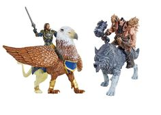Pack 4 figuras Warcraft: El Origen 15 cm, Lothar vs Blackhand, Jakks Pacific  Pack de 4 figuras articuladas de 15 cm, de los protagonista del film Warcraft: El Origen.