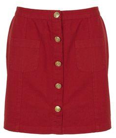 jupe rouge Leon & Harper été 2015