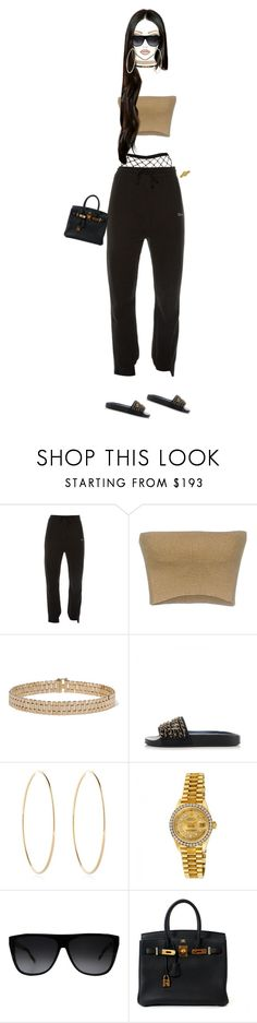 """LA"" by phreshprince ❤ liked on Polyvore featuring Vetements, Dries Van Noten, Lanvin, Chanel, Maria Francesca Pepe, Rolex, Yves Saint Laurent and Hermès"