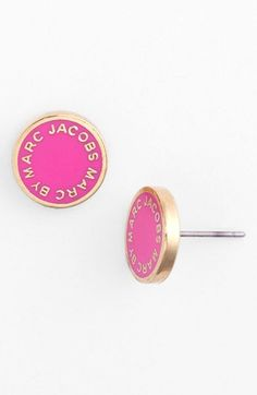 MARC BY MARC JACOBS Enamel Logo Disc Earrings available at #Nordstrom