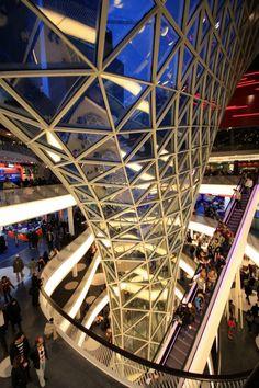 MyZeil Shopping Mall / Studio Fuksas #arquitetura #architecture #design #building #estrutura #structure