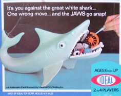 The Game of Jaws {Ideal 1975} My Uncle Bud had this game, he was only 4 years…