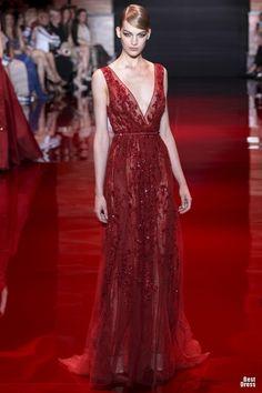 Sfilate Elie Saab Alta Moda Autunno-Inverno 2013-14 - Sfilate Parigi  red dress