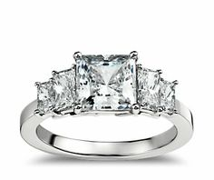 This is my most wanted ring yet....Four Stone Square Brilliant Diamond Engagement Ring in Platinum from Blue Nile