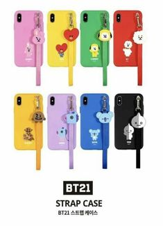Official strap phone case cover shockproof for iphone galaxy kpop bts