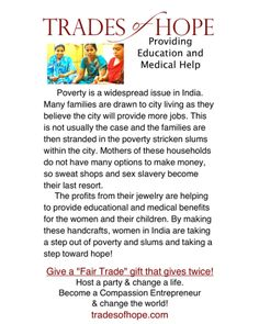 Trades of Hope - Journey Bracelet. Visit www.mytradesofhope.com/jenniferheybore or www.mytradesofhope.com/parties/13152