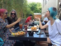 Jenny Lee, Emily Kokal and Chris C.