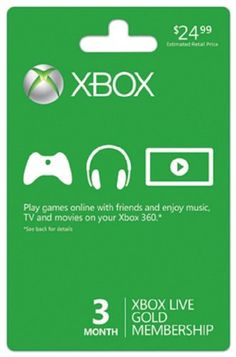 Xbox LIVE 3 Month Gold Membership - Experience three months of pure gold! Your Xbox LIVE Gold Membership lets you connect and play with friends around the world and watch thousands of HD movies instantly from Netflix. In addition to Xbox LIVE feature Xbox 360, Playstation, Xbox Xbox, Video Games Xbox, Xbox Games, Sf Games, Instant Gaming, Boxing Live, E Online