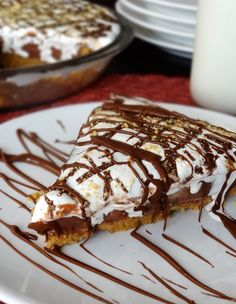 Nutella, Peanut Butter and Marshmallow Pie