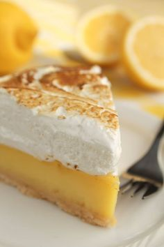 Dessert Recipe: Classic Lemon Meringue Pie ... Lemon meringue pie is one of those desserts that really makes us happy. There's something about the ridiculously light meringue and the sweet and tart lemon filling that picks us up and makes our days just that much better.