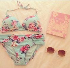 adorable floral bikini ∞