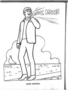 The Beatles Coloring Page 14