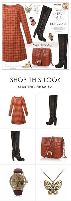 """""""Warm Up: Long-Sleeve Dresses"""" by aurora-australis ❤ liked on Polyvore featuring Rebecca Minkoff, Guerlain, Christian Dior, BangGood, polyvoreeditorial and longsleevedress"""